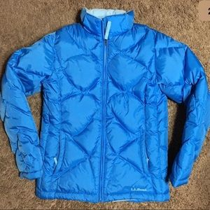 LL Bean Kids Goose Down Puffer Full Zip Jacket
